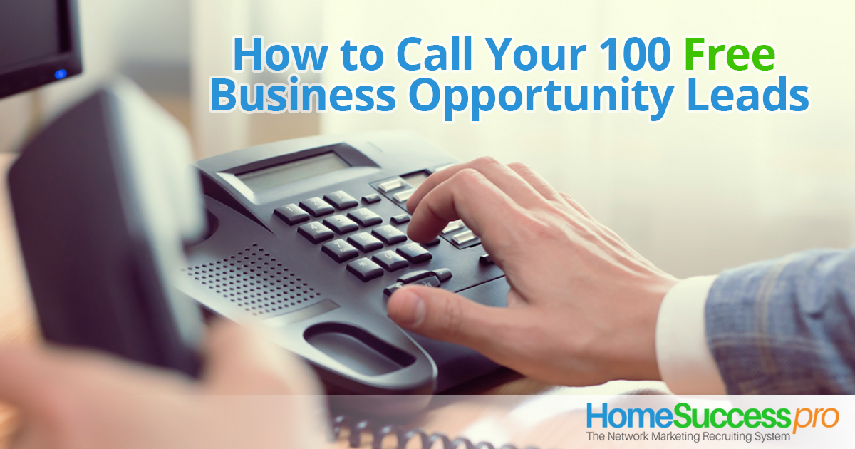 How to Call your 100 free leads